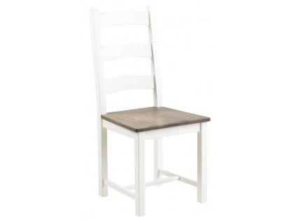 Bílá dřevěná jídelní židle Wion