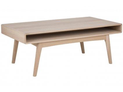 Světlý dubový konferenční stolek Aiko 130 x 70 cm