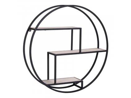 Černý kovový nástěnný regál Denton 60 cm