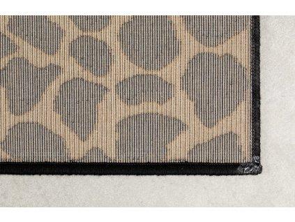 Černý koberec se vzorem pantera Bold Monkey It´s A World Baby Panther 170x240 cm