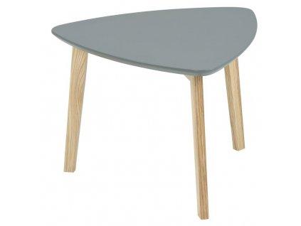 Šedý odkládací stolek Wingle 50x50 cm