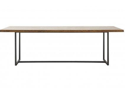 Dřevěný mangový jídelní stůl Arnold 240 cm s kovovou podnoží
