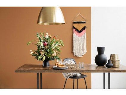 Dřevěný mangový jídelní stůl Arnold 200 cm s kovovou podnoží