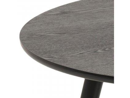 Černý jasanový konferenční stolek Stanfield 80 cm