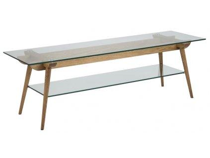 Skleněný TV stolek Costa