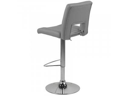 Šedá čalouněná barová židle Richie