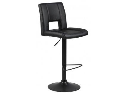 Černá čalouněná barová židle Richie