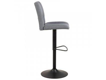 Šedá látková barová židle Richie
