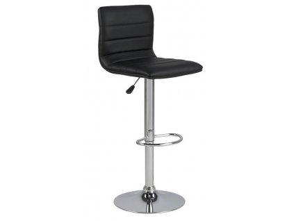 Černá čalouněná barová židle Idario