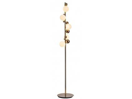 Zlatá kovová stojací lampa Isis 160 cm