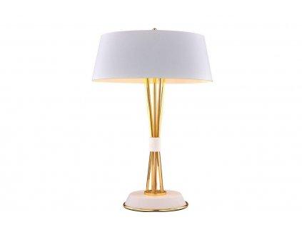 Bílá kovová stolní lampa Hooper