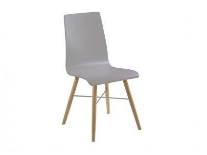 Šedá designová židle Le Mas
