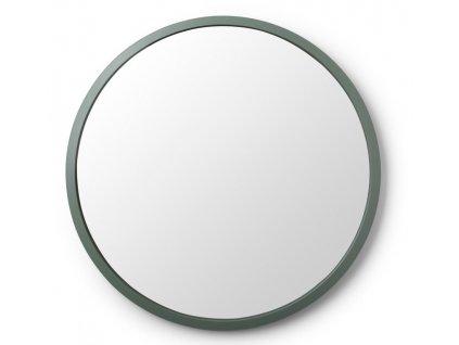 Zelené kulaté závěsné zrcadlo Hubby 61 cm