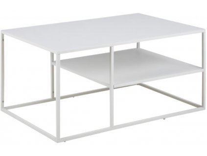 Bílý kovový konferenční stolek Renna II.