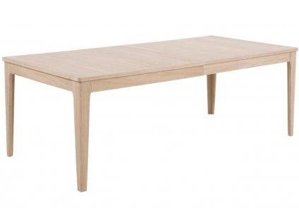 Dubový rozkládací jídelní stůl Aero 220 x 100 cm