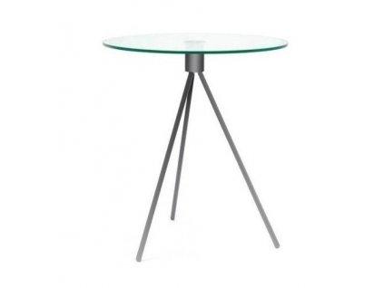 Odkládací stolek Bohem 50 cm, chrom