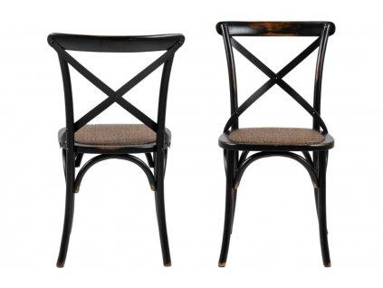 Černá ratanová jídelní židle Meadow