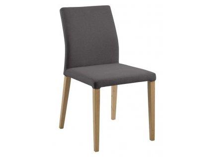 Šedá látková jídelní židle Inspo
