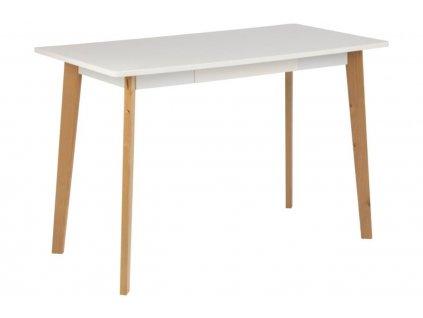 Bílý jídelní stůl Corby