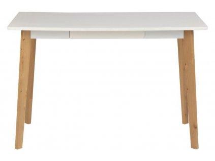 Bílý dřevěný pracovní stůl Corby 117 x 58 cm