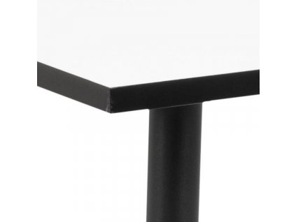 Černo-bílý jídelní stůl Wanda 120 cm
