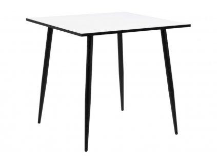 Černo-bílý jídelní stůl Wanda 80 cm