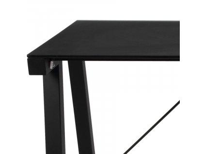 Černý skleněný pracovní stůl Syphon