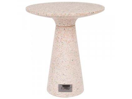 Světle růžový terrazzo odkládací stolek ZUIVER VICTORIA