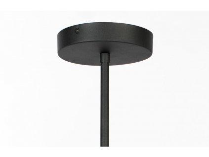 Černé kovové závěsné světlo ZUIVER LUB