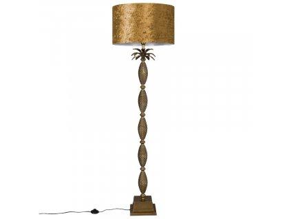 Zlatá stojací lampa DUTCHBONE Piña