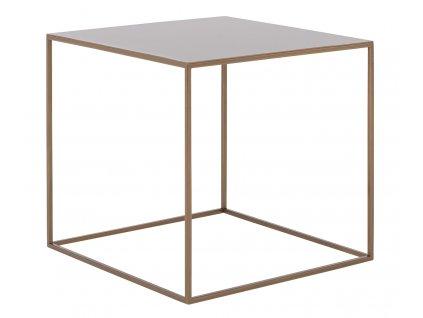 Zlatý kovový konferenční stolek Moreno 50 x 50 cm