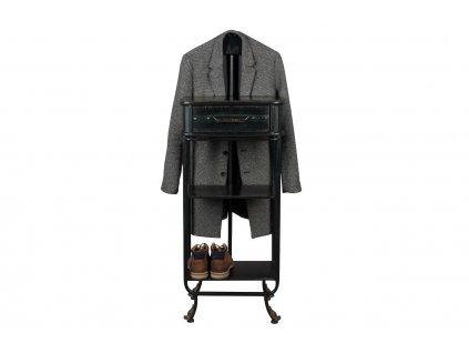 Černý kovový vintage věšák na oblečení DUTCHBONE Lion