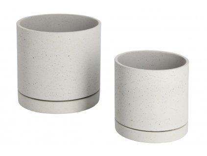Set dvou šedých betonových květináčů LaForma Kawanti