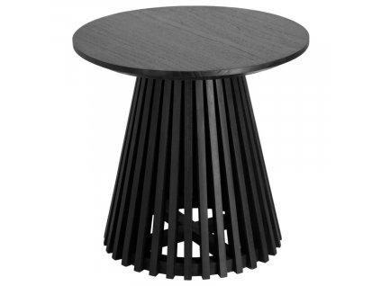 Černý masivní kulatý bistro stůl LaForma Irune 50 cm