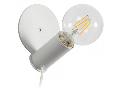 Bílá kovová nástěnná lampa LaForma Danitz