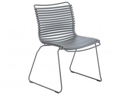 Šedá plastová zahradní židle HOUE Click s kovovou podnoží