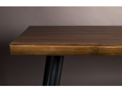 Hnědý jídelní stůl DUTCHBONE ALAGON 200x90 cm s kovovou podnoží