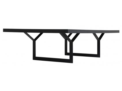 Černý konferenční stolek Porto 80x140 cm