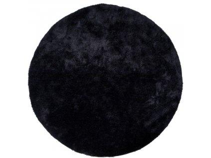 Černý koberec Abbas 120 cm