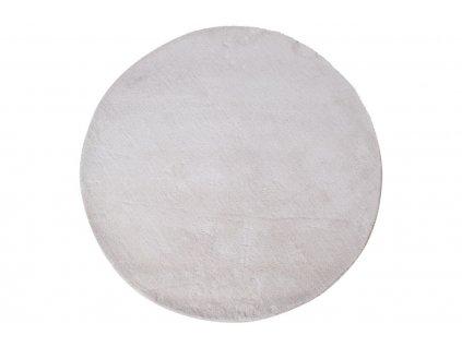 Bílý koberec Nordic Living Abbas 120 cm