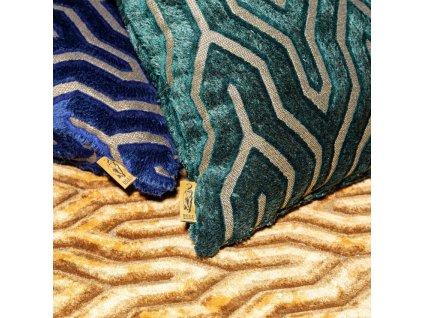 Zeleno zlatý polštář I Feel So Soft