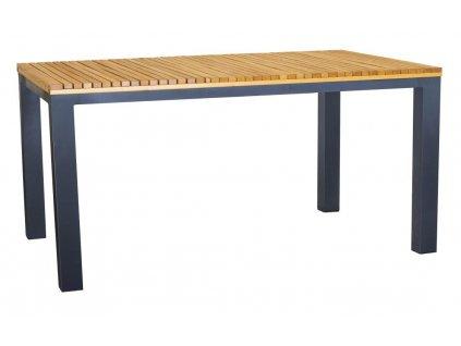 Dřevěný zahradní stůl Ripper 150 x 90 cm s kovovou podnoží