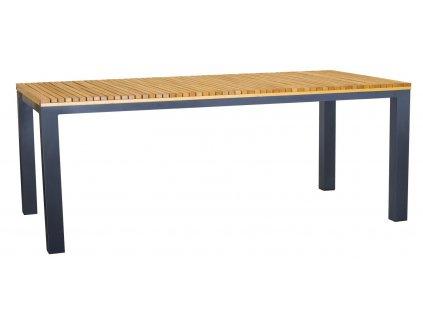 Dřevěný zahradní stůl Ripper 200 x 100 cm s kovovou podnoží