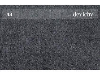 Tmavě šedá čalouněná rohová pohovka DEVICHY Chloe, pravá