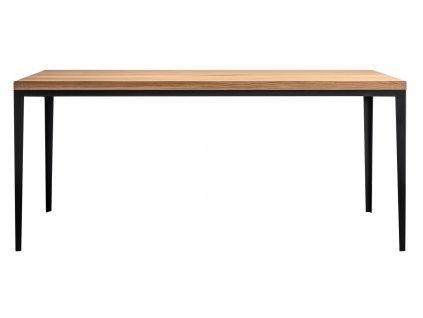 Masivní dřevěný jídelní stůl FormWood Carlos s kovovou podnoží