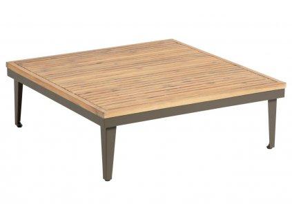 Dřevěný zahradí konferenční stolek LaForma Pascale 90 x 90 cm s kovovou podnoží