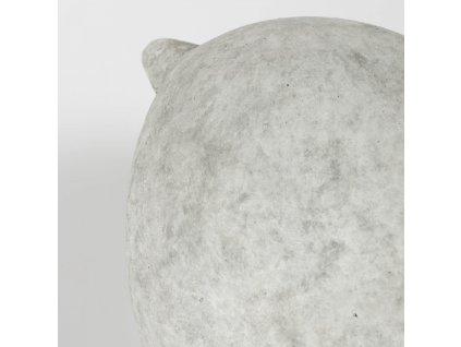 Světle šedá cementová dekorativní soška LaForma Wynne 16 cm