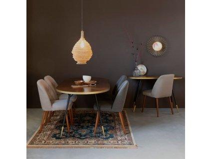 Přírodní oválný jídelní stůl WLL DENISE 180 x 90 cm