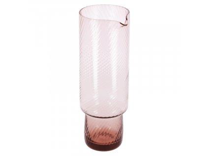 Růžová skleněná karafa LaForma Yida