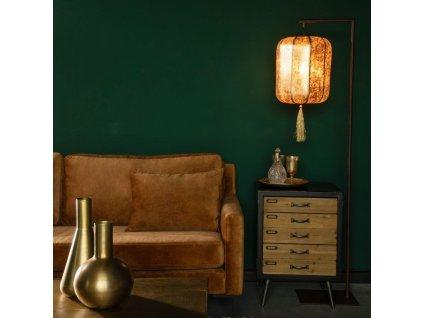 Černo zlatá stojací lampa DUTCHBONE Suoni